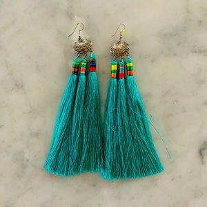 HANDMADE artisanal boho fringe earrings